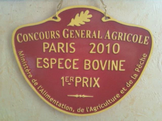 2010 - Coton - 1er prix Salon International de l'Agriculture